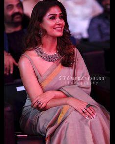 Nayanthara Exclusive Photos in Saree from Vikatan Awards - NewReel Saree Jackets, Ethnic Sarees, Indian Sarees, Simple Sarees, Saree Trends, Indian Attire, Indian Wear, Elegant Saree, Saree Look