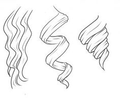 how to draw curly hair, draw curls step 1 (wavy/loose, curly/ringlets, coil/barrel curl)