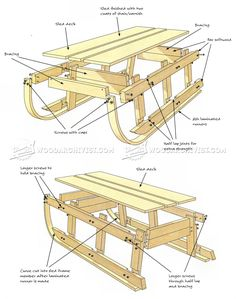 Bentwood Sleigh Plans - Children's Outdoor Plans