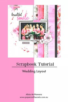 Wedding Layout for Uniquely Creative ~ Layout - Paper Craft Secrets Card Making Tutorials, Craft Tutorials, Craft Ideas, Scrapbook Journal, Scrapbook Page Layouts, Wedding Scrapbook, Mothers Day Crafts, Paper Crafts, Creative