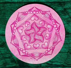 valentangle  Done on a hand-colored tile for sale on Sue's blog.