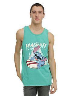 Disney Lilo & Stitch Hawaii Surf Club Tank Top,