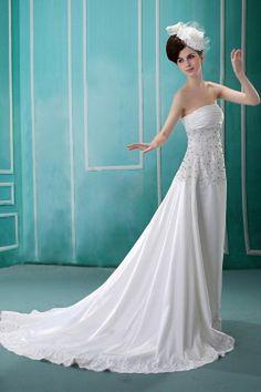 Weekly Special Product: Weiß Organza Mantel / Spalte Brautkleider ma0446 - Order Link: http://www.modeabendkleider.de/weiss-organza-mantel-spalte-brautkleider-ma0446.html - Farbe: White; Silhouette: Mantel / Spalte; Ausschnitt: Eine Schulter; Verzierungen