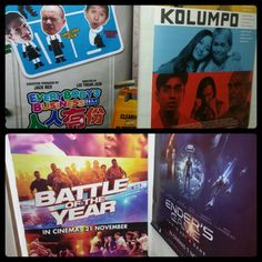 #2014 #movies #banners !!! When you work in the #cinema #business ^_^ it's #easy to do #home #deco ^_^ #free #posters !!! #everybodybusiness !!! #kolumpo !!! #battleoftheyear !!! #endersgame !!! My #comfy #room ^_^
