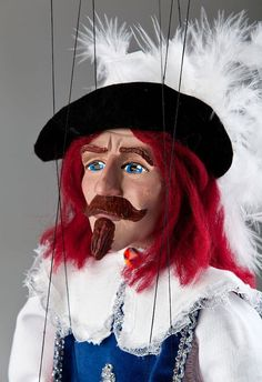 Musketeer Andre Czech Marionette Puppet by CzechMarionettes