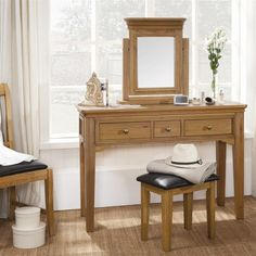 With timbers sourced only from managed forests, the Nice Dressing Table consists of solid and veneered oak with warm depths of colour. Aiming for a lasting impression that enlivens any room, this piece adds timeless sophistication to modern homes. Modern Homes, Dressing Table, Wooden Furniture, Forests, Warm, Colour, Bedroom, Nice, Decor