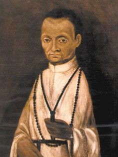 Martin de Porres Velázquez, O.P. (December 9, 1579 – November 3, 1639), was a lay brother of the Dominican Order who was beatified in 1837 by Pope Gregory XVI and canonized in 1962 by Pope John XXIII. He is the patron saint of mixed-race people and all those seeking interracial harmony. He was born & lived in Lima, Peru.