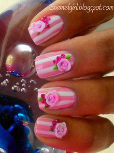 Enamel Girl: Ceramic Rose Manicure