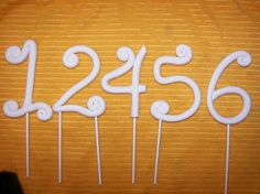 Whimsical Fondant Numbers Cake Topper 12456 in by ATasteofFinesse, $11.00