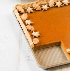 Break away from the traditional pumpkin pie this holiday season! This Pumpkin Slab Pie recipe is so simple and so sweet! Featuring O Organics® 100% Pure Pumpkin, found exclusively at your local Safeway, cream cheese, ginger and even more pumpkin pie spice, this new take on the classic holiday dessert is absolutely bursting with seasonal flavors.
