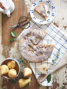 gâteau aux poires - Le chien à taches