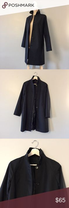 """Uniqlo raincoat XS black Worn once, like new, excellent condition. Beautiful cut, well made, lightweight. Length: 35"""". Armpit to armpit: 18.5"""". Uniqlo Jackets & Coats"""