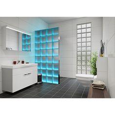 Fuchs Design Glasbaustein Komplettset Light my Wall (B x H: 78 x 175,5 cm, Klar, Wolke)