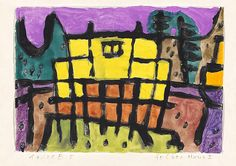 Paul Klee, Yellow house I, 1940, 365, watercolour and coloured paste on paper on cardboard, 21 x 29,4 cm, Private collection, Switzerland, on extended loan to the Zentrum Paul Klee, Bern