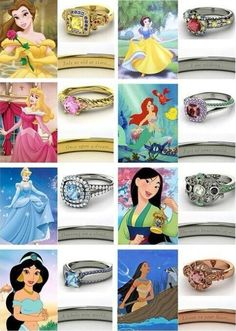 A ring for each disney princess