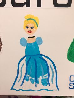 Cinderella Kids Footprint Craft