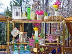 Blogger Challenge: Beachside Cabana Bar Cart (http://blog.hgtv.com/design/2014/03/11/blogger-challenge-beachside-cabana-bar-cart/?soc=pinterest)