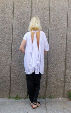 Extravagant White Blouse / Asymmetrical White Top / https://www.etsy.com/listing/235593234/extravagant-white-blouse-asymmetrical?utm_campaign=crowdfire&utm_content=crowdfire&utm_medium=social&utm_source=pinterest