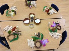 Loose parts and writing tools - provocation to play Passionately Curious: Learning in a Reggio Inspired Kindergarten Environment: Literacy Through Play and Projects