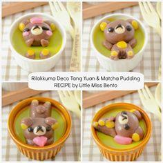 Rilakkuma-Deco-Tang-Yuan-and Matcha Pudding Bento Recipe