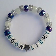 Moon light - kandi bracelet.