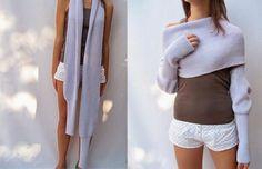 Modèle ! La grande écharpe toute chaude, multi-fonction, à tout faire ! ~ Balaine | Laine online discount | Modeles gratuits