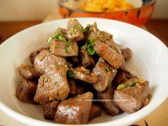 """Foie de veau mariné et sauté à l'algérienne/marocaine 子牛レバーのマリネソテー http://franco-japonais.com/tomato/ マダムTOMATOの""""グルメ・ガーデン"""""""