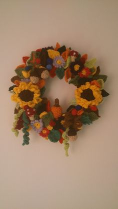 Autumn wreath AmbrosiaCrochet Etsy Shop
