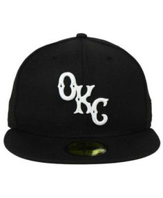 New Era Oklahoma City Dodgers Black and White 59FIFTY Fitted Cap - Black 6 7/8
