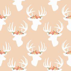 You Look Fancy Deer Blush fabric by >>mintpeony<< on Spoonflower - custom fabric