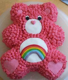 Care bear cake More Care Bear Birthday, Care Bear Party, Birthday Cake Girls, Baby Birthday, 1st Birthday Parties, Birthday Ideas, Care Bear Cakes, Teddy Bear Cakes, Care Bears