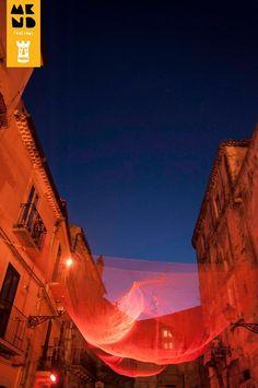 """""""The Net"""": Temporary Exhibition in Castello Square, Mukanda Festival. Studio9 Architettura - Marco Veglia & Francesca Nobiletti."""