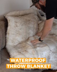 Introducing the PupProtector™ Waterproof Blanket. The only blanket that combines comfort and style so you don't have to choose between a beautiful home and a happy dog. Dog Throw, Dog Rooms, Dog Blanket, Pet Furniture, Pet Beds, My New Room, Dog Accessories, Dog Care, Cute Baby Animals