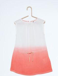 Robe imprimée en viscose                                                                                                                                                                      blanc/rose Petite fille