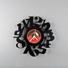 30% Off! PAVEL SIDORENKO Numbers2 Upcycled Vintage Vinyl Clock