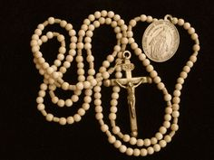 Antique Early 1800's Catholic FIFTEEN DECADES MISSIONARY Nun Rosary