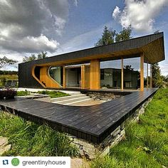 #Repost @greentinyhouse with @repostapp  The Dalene Cabin a 120 Sq. Ft. Tiny Cabin with  a small terrace designed by architect Tommie Wilhelmsen in Østhusvik on Rennesøy Island Norway #tinyhouse#architecture#home#nature#modern#tinyhomes#architect#house#green#minimalistic#tinyhousemovement#cool#future#tiny#design#micro#greentinyhouse by housemania