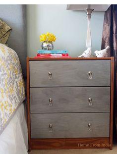 rast dresser | Ikea RAST Hack: Wood + Faux Zinc Tutorial