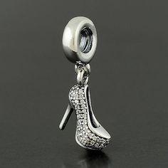 Genuine Pandora Charm Sterling Silver 925 ALE Sparkling Stiletto European Bead