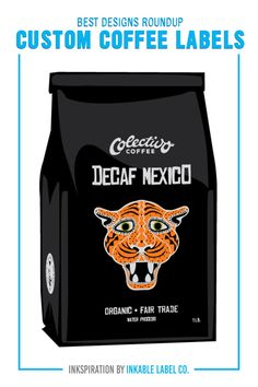 PLUS PRO DESIGN TIPS. Packaging carries the heart of your brand. For big inspiration, here are some of the best custom coffee label designs we've seen! Custom Packaging, Custom Labels, Coffee Labels, Decaf Coffee, Packaging Design Inspiration, Label Design, Best Coffee, Cool Designs, Big