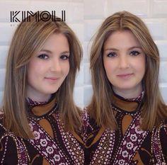 12 angesagte Frisuren für mittellanges Haar für Frauen, die gerne experimentieren möchten! Brunette To Blonde, Updos, Locks, Curly, Hairstyle, Color, Fashion, Medium Length Hairs, Woman