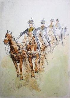 hors drawn