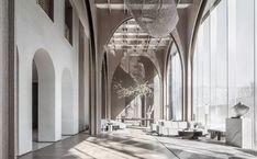 建E室内设计网 Lobby Interior, Office Interior Design, Office Interiors, Lobby Lounge, Hotel Lobby, Architecture Collage, Concept Architecture, Lobby Reception, Lobby Design