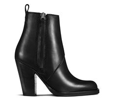ACNE   Colt shiny black high ankle boots (variation on the classic pistols)