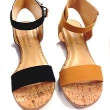 Sale Tan Flat Ankle Strap Sandal with One Band, visit www.millionsofshoes.com