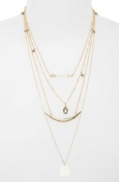 Junior Women's BP. Multistrand Pendant Necklace - Gold