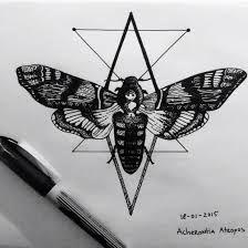 Výsledek obrázku pro smrtihlav tattoo