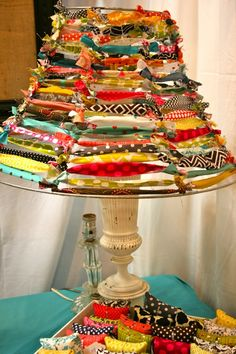 Recycle fabric to make a lamp shade like this