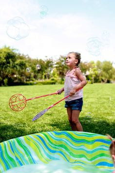 me oh my!: Bubbles & Butterfly Party - Have a bubble machine and have the kids catch the bubbles with a butterfly net