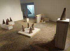 Installation view of Gabriela Salazar's 'My Lands are Islands' at NURTUREart. Coffee grounds.